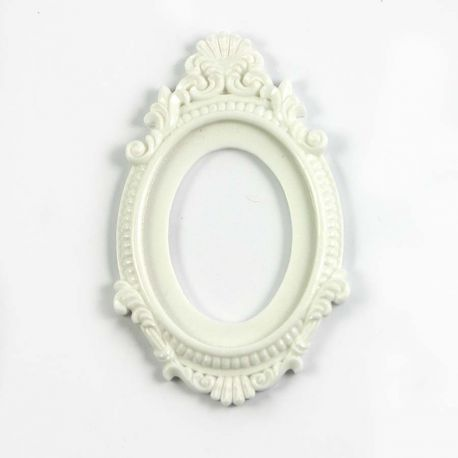Grand cadre baroque blanc