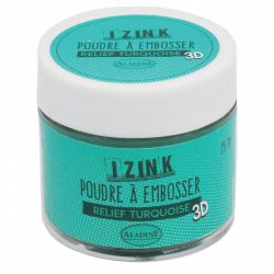 POUDRE A EMBOSSER TURQUOISE