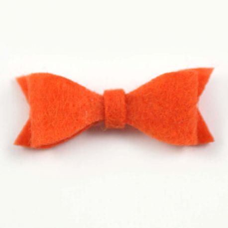 Noeud en feutrine orange