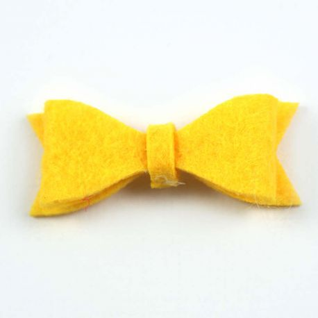 Noeud en feutrine jaune clair