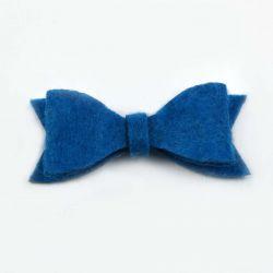Noeud en feutrine bleu
