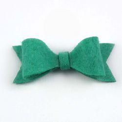 Noeud en feutrine vert mint