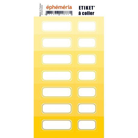 stickers nuances de jaune