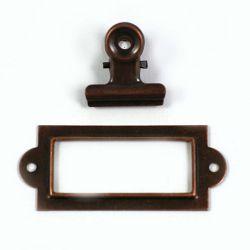 Lot pince et cadre vintage cuivre