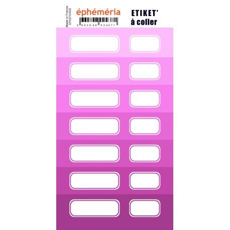 Stickers nuances de violet Zinzolin