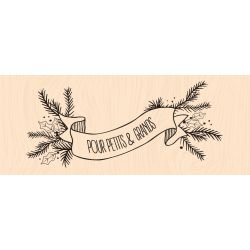 Banniere Hivernale Woodblock stamp