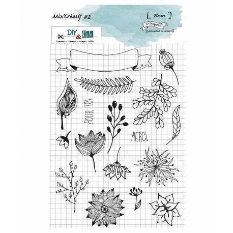 Stamp Mix Creatif 2 - Fleurs