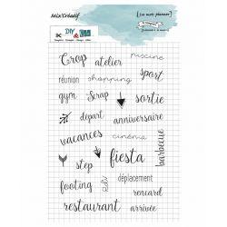 Tampons Mix Creatif  Mots planner