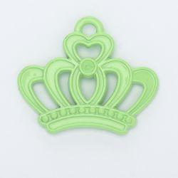 Breloque couronne vert