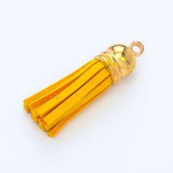 Pompon or et jaune orange