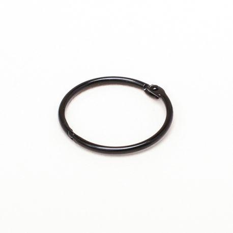 anneau brisé noir 25mm
