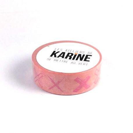 Masking Tape Croix roses Karine CazenaveT