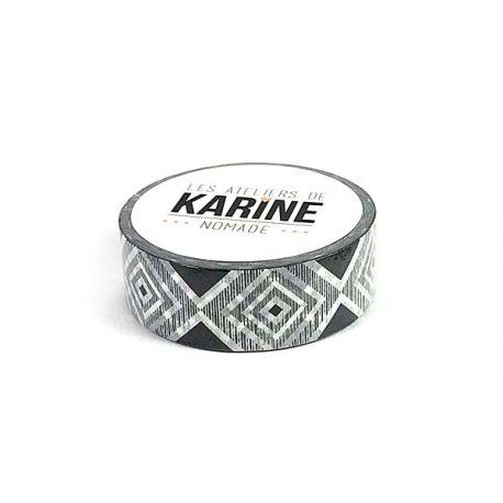 Nomade Masking Tape Geometrique noir et blanc