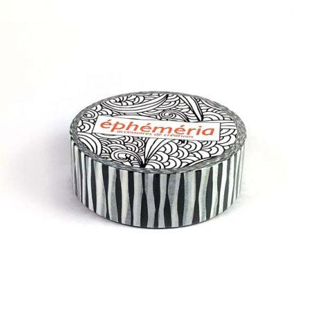 Masking Tape black Zebra