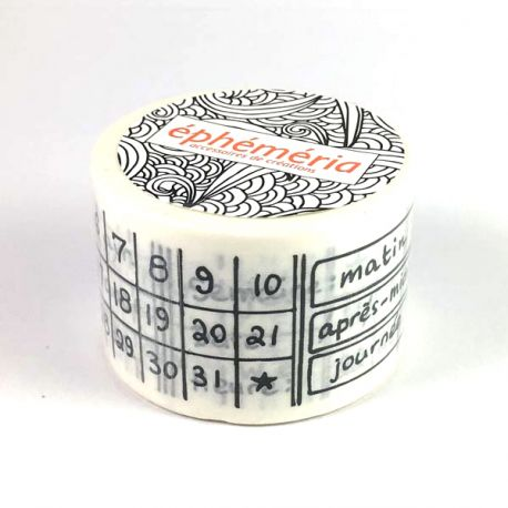 Masking Tape Calendrier permanent