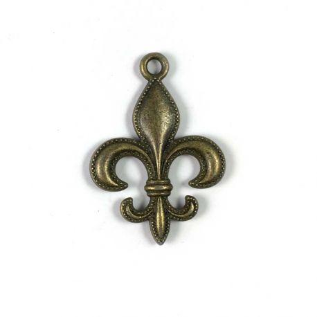 Charm fleur-de-lys bronze