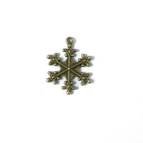 Charm snowflake bronze