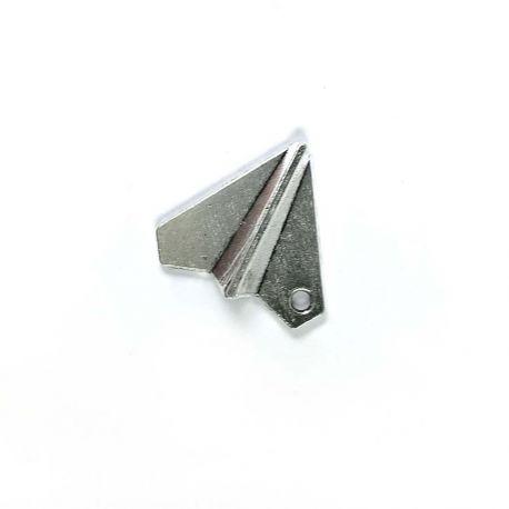Breloque avion origami argent