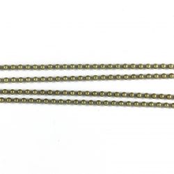 Ball chain D1,5mm grey