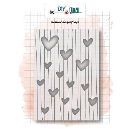 Embossing folder Hearts