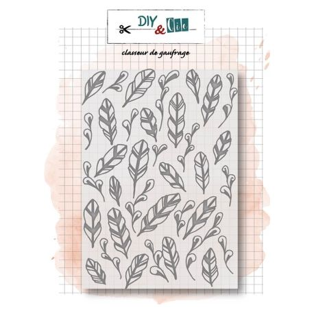 Embossing folder Feathers