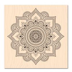 Tampon Bois Fleur de Lotus