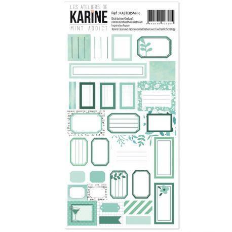 Stickers étiquettes Mint
