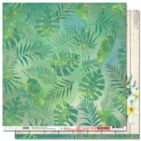 Papier RDV au Soleil- Jungle Story
