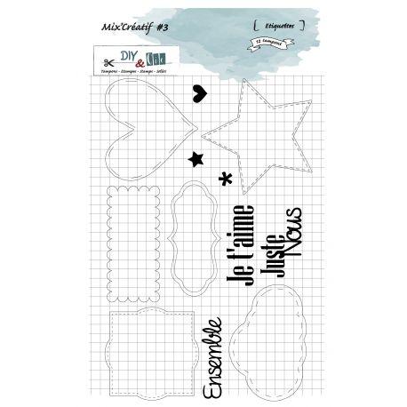 Tampon Mix Créatif 3 - Etiquettes