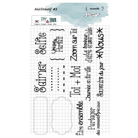 Clear Stamp Mix Créatif 3 - Ensemble