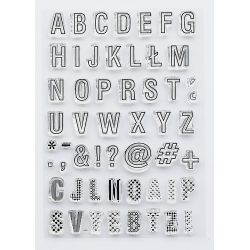 Alphabet-clear stamp Studio Forty
