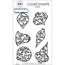 Monograce baubles-clear stamp Studio Forty