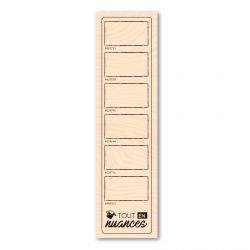 Woodblock stamp Mon nuancier