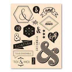 Woodblock stamp Esperluettes en folie