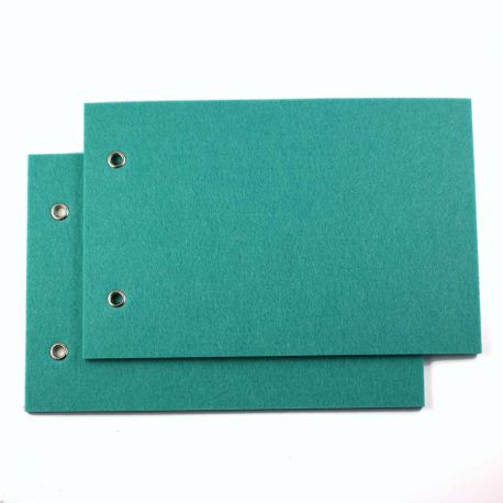 Couvertures feutrine turquoise par 2