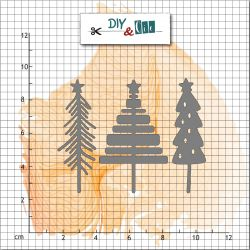 Dies Trio sapin- DIY and Cie