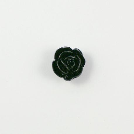 Rose résine noire 20mm