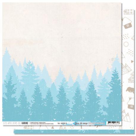 Papier Douceur Hivernale - Jour de neige-Karine Cazenave-Tapie