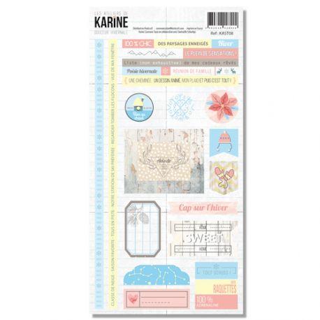 Douceur Hivernale - Stickers 20X30-Karine Cazenave-Tapie