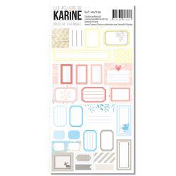 Stickers étiquettes Douceur Hivernale-Karine Cazenave-Tapie