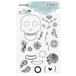 Clear stamp skull DIY and Cie