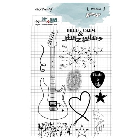 Clear stamp musik DIY and Cie
