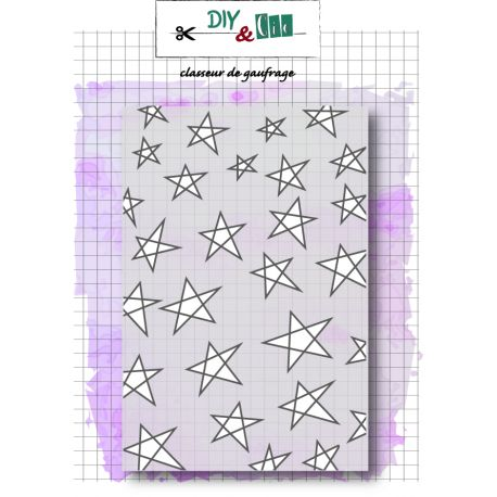Embiossing folder étoiles DIY and Cie