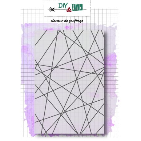 Embossing folder string art DIY and Cie