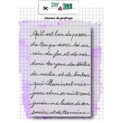 Embossing folder  petit message DIY and Cie