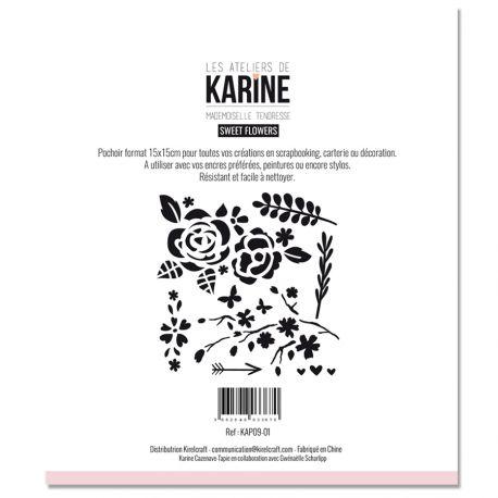 Pochoir Sweet Flowers -Karine Cazenave-Tapie