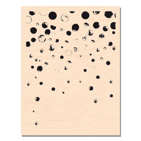 Tampon bois de fond Confettis