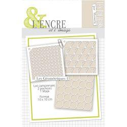 Set stencils Les Geometriques 1- L'Encre et l'Image