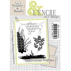 Clear Stamp Printemps Graphique-  L'Encre et l'Image