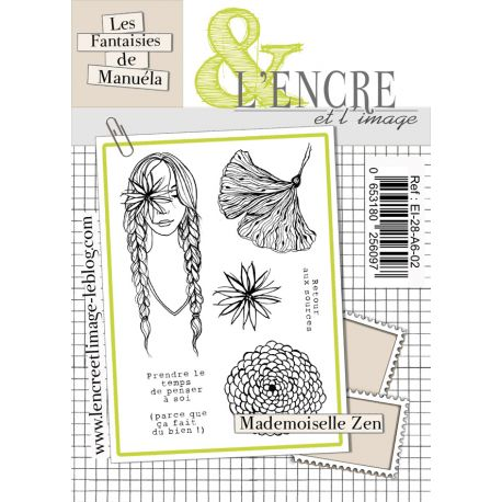 Tampon clear Mademoiselle Zen-  L'Encre et l'Image